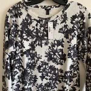 Floral J Crew Sweater
